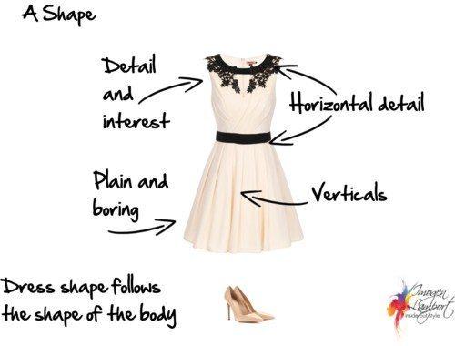 A shape dress