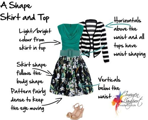 A shape skirt and top