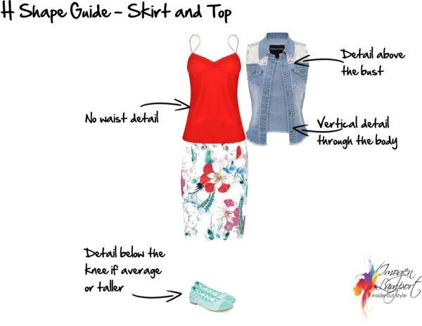 H Shape Guide skirt and top