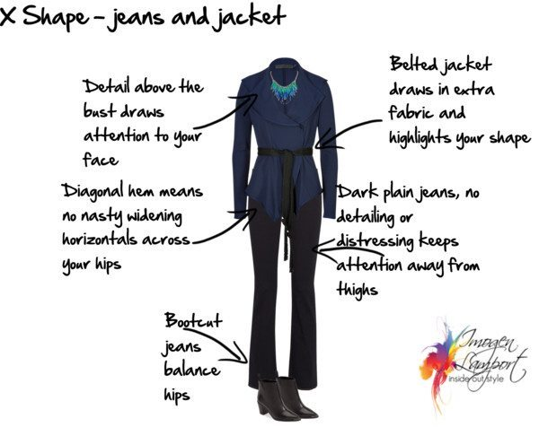 x shape jeans and jacket