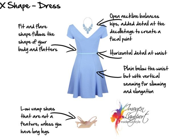 X shape dress guidelines