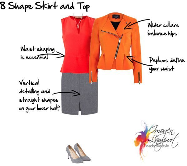 8 shape skirt and top