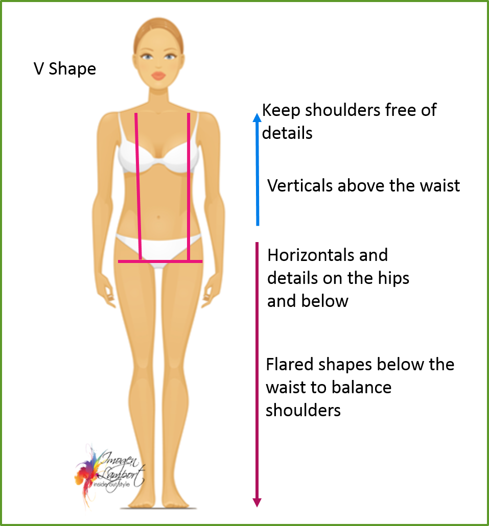 How to Dress the V shape body