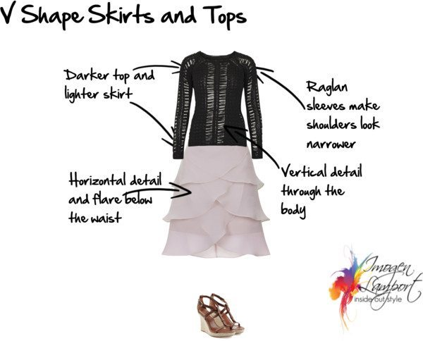 V shape skirt and top