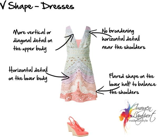 V shape dresses