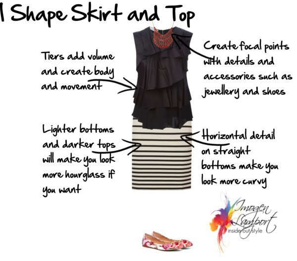 I shape skirt and top