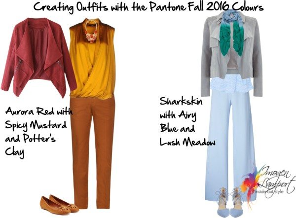 Pantone Fall 2016 colour outfits