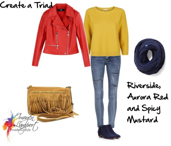 triad colour scheme with pantone 2016 fall colours