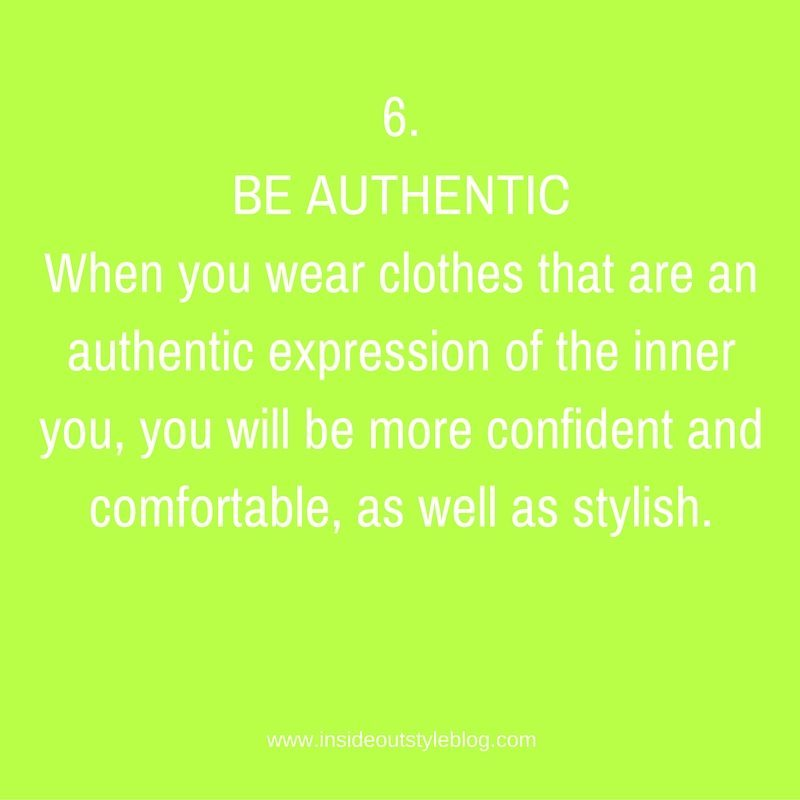 .BE AUTHENTIC
