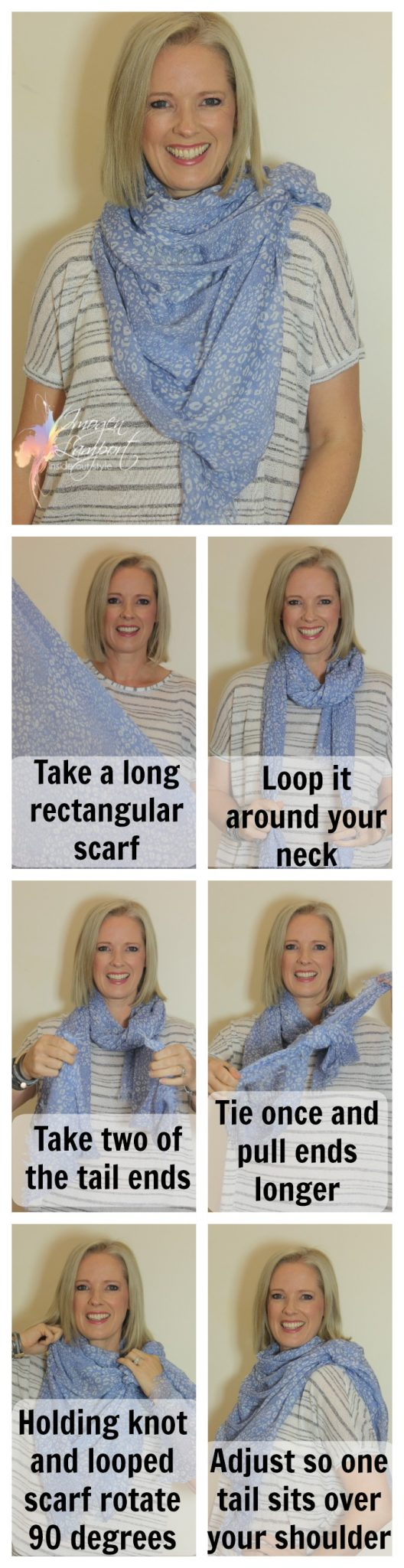 Inside Out Style: How to tie a rectangular scarf