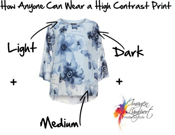 How anyone can wear a high contrast print