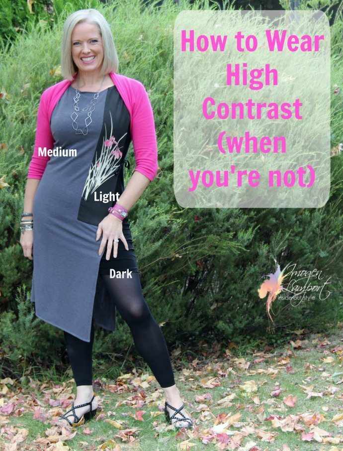 how to wear high contrast