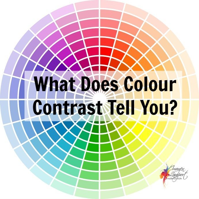 Inside Out Style: what does colour contrast tell you - how to put colours together to flatter you